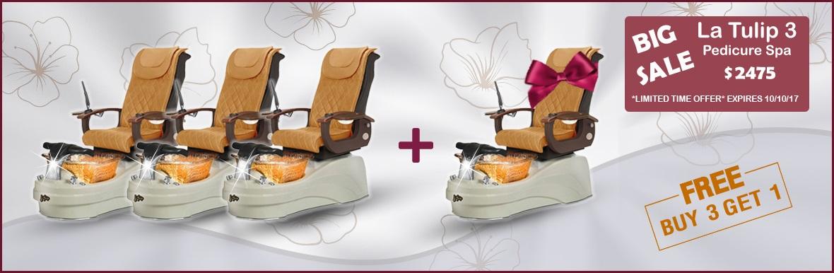 ebuynails.com big sale la tulip 3 pedicure spa chair nail table