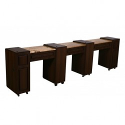 Canterbury Manicure Table Chocolate D 000