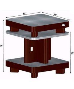 Custom Made Nail Dryer Station UV10 (Burgundy/Aluminum)