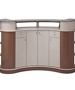 Custom Made Reception Desk C211 PU (Almond/Cappuccino)