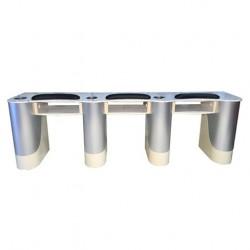 Custom Triple Nail Table Beige Aluminum F- 111