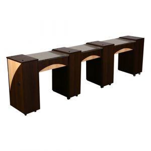 Edita Triple Manicure Table Chocolate