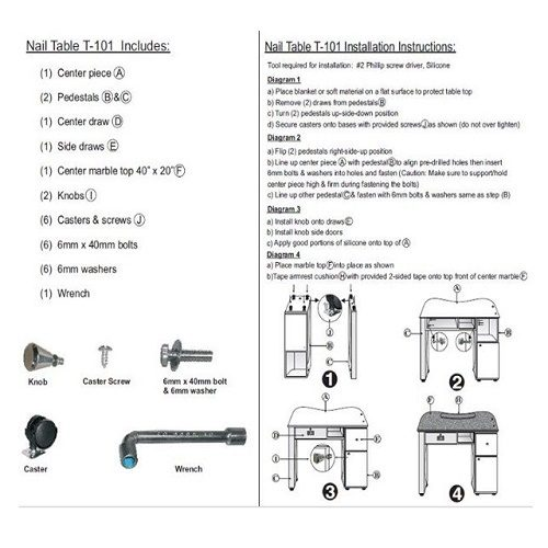 Nail Table T105G Package