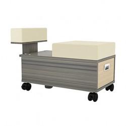Alera Pedicure Cart With Footrest- 000