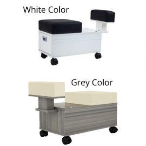 Alera Pedicure Cart With Footrest Full Color