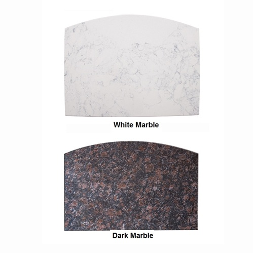 Classic Space Saver Nail Table Marble Top