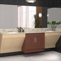 Contemporary Single Sink Cabinet 6