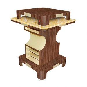 Verona II Nail Dryer Table Square