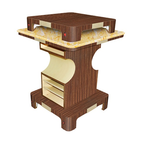 Verona II Nail Dryer Table Square