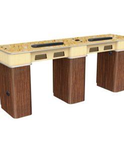 Verona Ii Nail Table Double Best Deals Pedicure Spa Chair I Manicure Salon Furniture