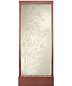 10′ Stainless Gande Bamboo Etched Glass