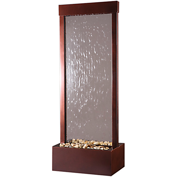 4′ Dark Copper Gardenfall Clear Glass