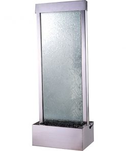 4′ Stainless Steel Gardenfall Clear Glass