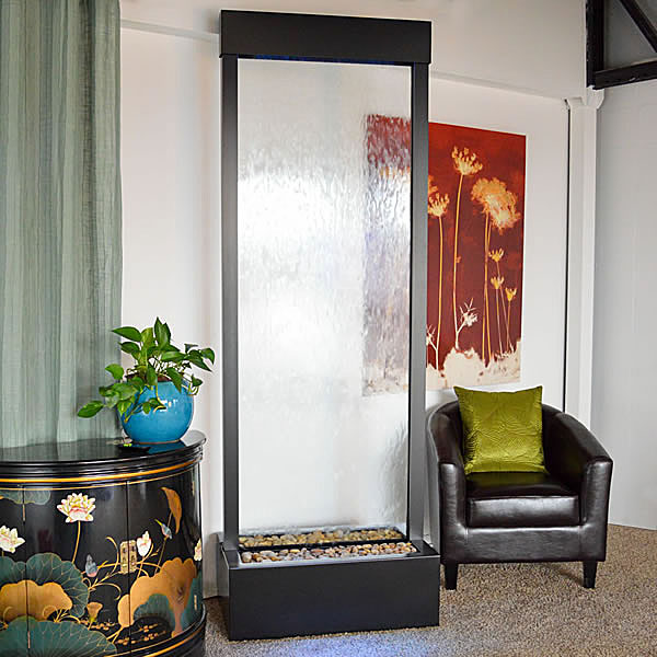8′ Black Onyx Gardenfall Clear Glass