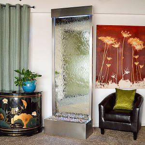 8′ Stainless Gardenfall Silver Mirror