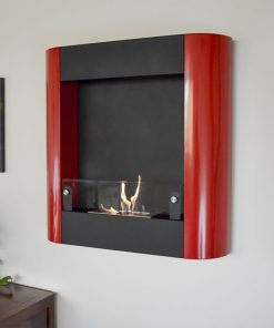 Focolare Muro Rosso Wall Mounted Ethanol Fireplace