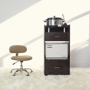 Glass Top Workstation Trolley