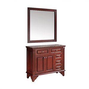 Hardwood Granite Mirror Station