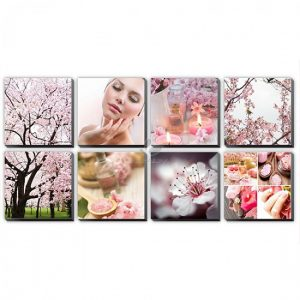 Pink Cherry Blossom Canvas Murals