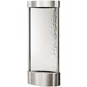Stainless Serrano Vertical Silver Mirror