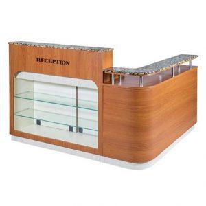 VT Shaped Reception Side Cabinet