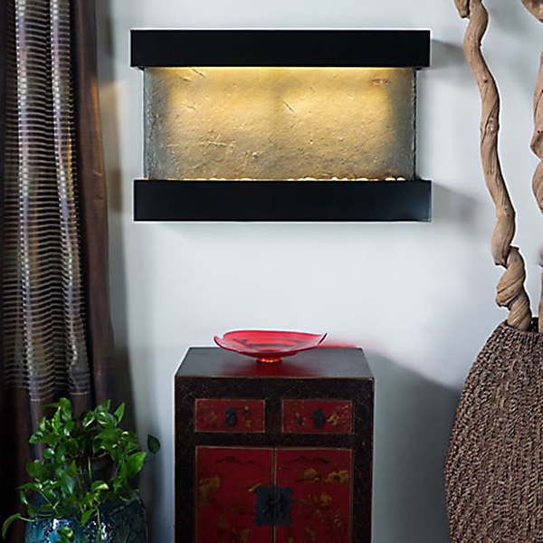 Verdigris Falls Horizontal Indoor Wall Fountain Black » Best Deals ...