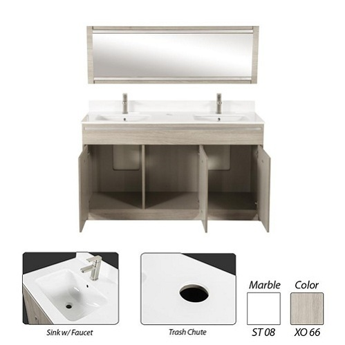 XO Double Sink 60″