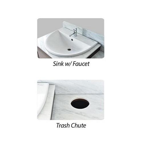 YC Double Sink w Faucet 64″
