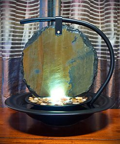 Zen Moon Shadow Slate Tabletop Water Fountain Promotion