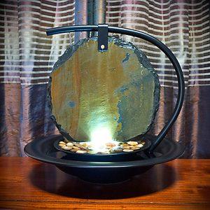 Zen Moon Shadow Slate Tabletop Water Fountain Promotion
