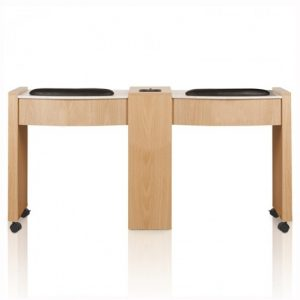 Classic Double Space Saver Manicure Table
