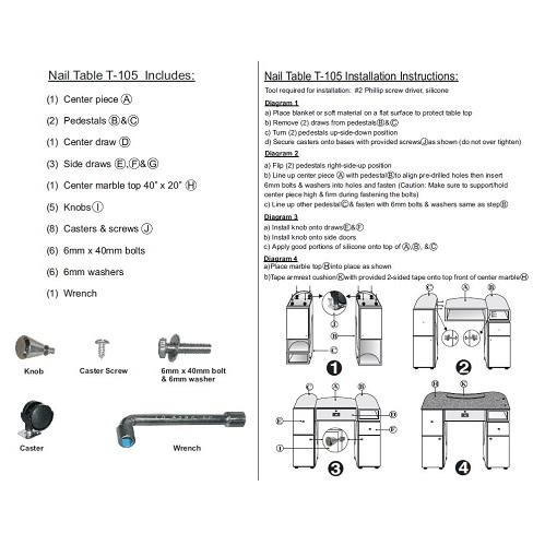 Nail Table T105