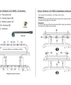 Dryer Station UV108 (Burgundy / Aluminum)