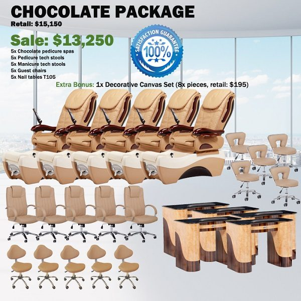 Chocolate Spa Pedicure Chair Package – Free shipping
