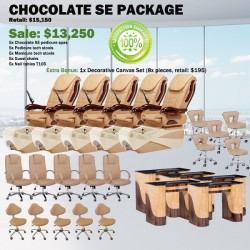 Chocolate SE Pedicure Chair Package - Free shipping