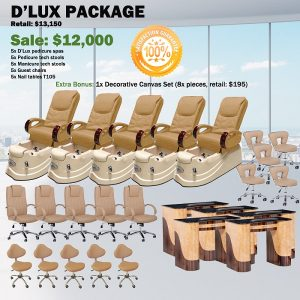 D'Lux Spa Pedicure Chair Package – Free shipping