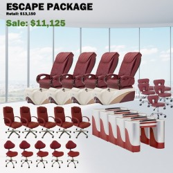Escape Pedicure Chair Package - Free shipping