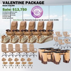 Valentine Pedicure Chair Package - Free shipping