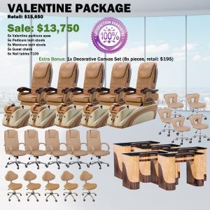 Valentine Spa Pedicure Chair Package – Free shipping