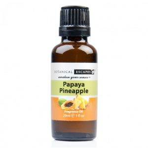 Botanical Escapes Herbal Spa Pedicure – Fruity-Tea Collection – Papaya Pineapple Fragrance Oil 1 oz
