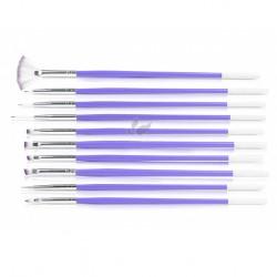 Design Purple Nail Art Brush Set (10pcs)