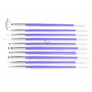 Design Purple Nail Art Brush Set (10pcs)