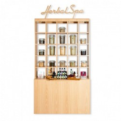 Double Herbal Display Cabinet 000