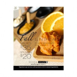 Fall Aroma Herbal Spa Poster 000