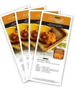 Herbal Spa Fall Aroma Menu Card 5 pcs set