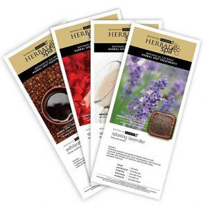 Herbal Spa Trial Kit Menu Card 4 pcs set