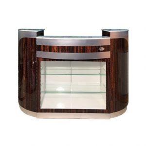 Custom Made Reception Desk C-209 (Cherry / Aluminum)