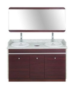 I Double Sink With Faucets 55""