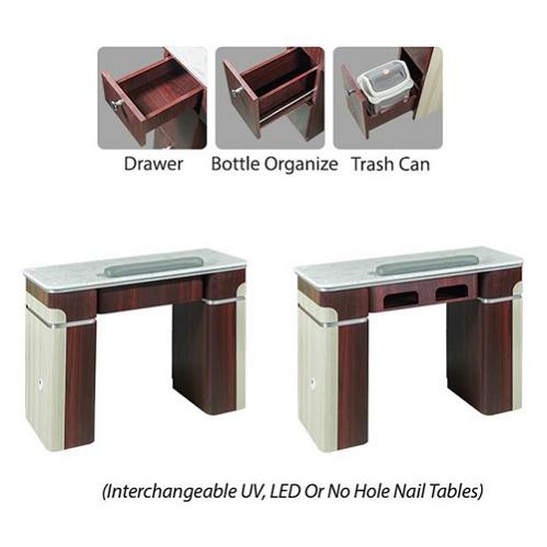 I Nail Table 39″ – 1 Hole LED