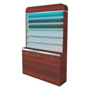 I Polish & Powder Rack With Gel Color & Powder Cabinet 48""